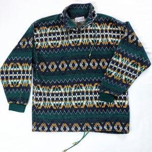 Vintage Nordic Quarter Zip Fleece Jacket